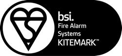 BSI Fire Alarm Systems Kitemark logo